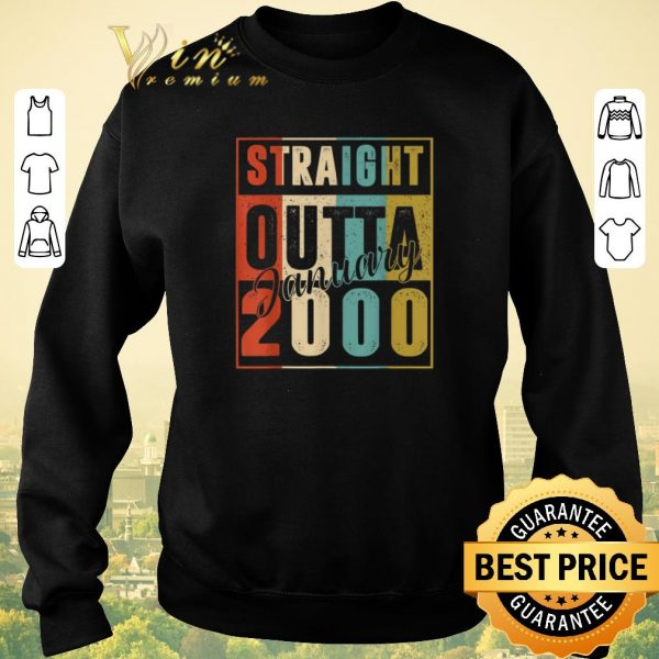 Awesome Straight Outta January 2000 Vintage shirt sweater