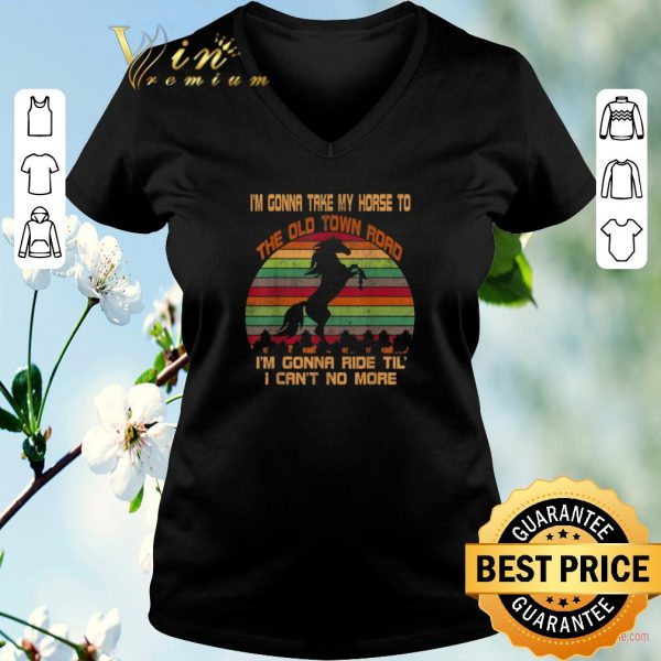 Awesome Vintage I'm Gonna Take My Horse To The Old Town Road shirt sweater