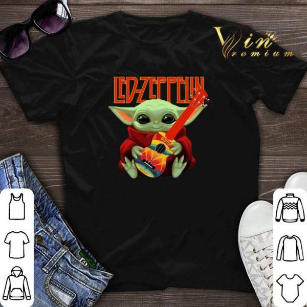 Baby Yoda Hug Led Zeppelin Guitar Star Wars shirt sweater