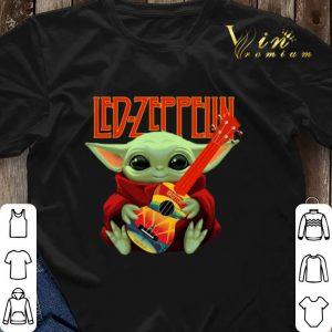 Baby Yoda Hug Led Zeppelin Guitar Star Wars shirt sweater 2