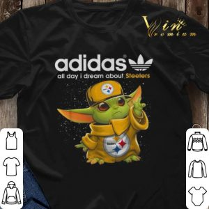 Baby Yoda adidas all day i dream about Pittsburgh Steelers shirt sweater 2
