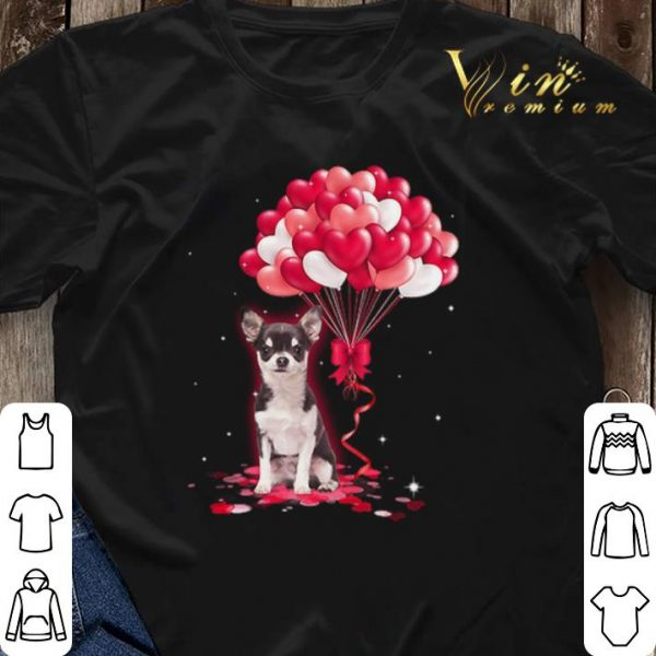 Chihuahua dog Love Balloons heart shirt sweater