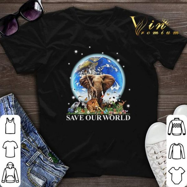 Earth elephant animals save our world.png sweater