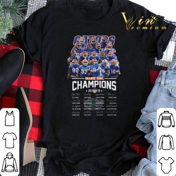 Florida Gators Orange Bowl Champions 2019 all autographed shirt sweater