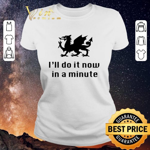 Funny Dragon I'll Do It Now In A Minute shirt sweater