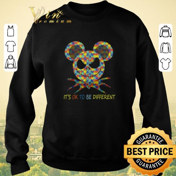 Funny Jack Skellington Autism It's ok to be different shirt sweater