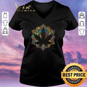 Funny Meditation lotus spiritual leaf weed shirt sweater 1