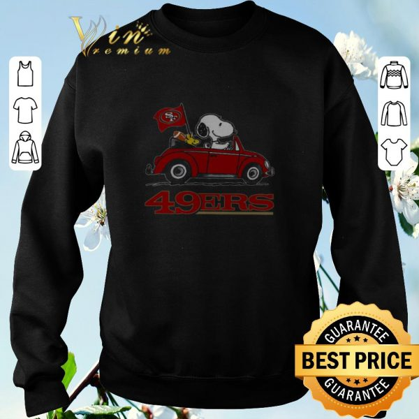 Funny Snoopy Driving Volkswagen San Francisco 49ers shirt sweater