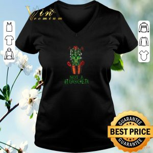 Funny St Patrick's Day Skull Not A Hugger Cactus shirt sweater 1