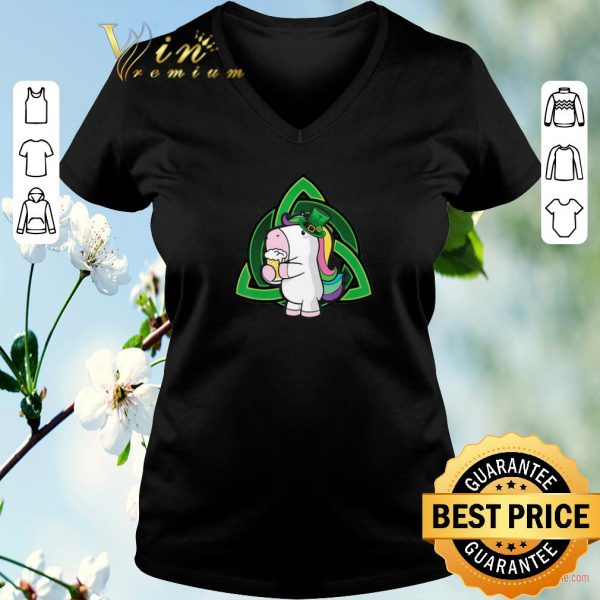 Funny Unicorn drink Beer Saint Patrick's Day shirt sweater