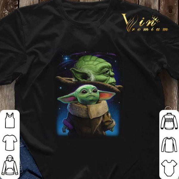 Galaxy Star Wars Baby Yoda and Master Yoda shirt sweater