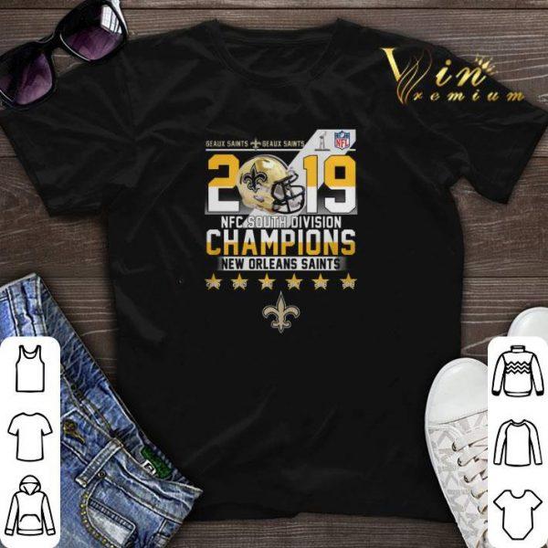Geaux Saints 2019 NFC South Division Champions New Orleans Saint shirt sweater