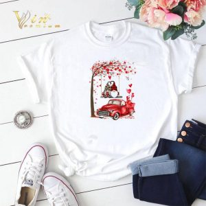 Gnomes red truck Valentine's day autumn leaf.png sweater 1