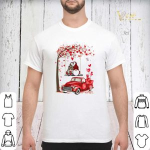Gnomes red truck Valentine's day autumn leaf.png sweater 2