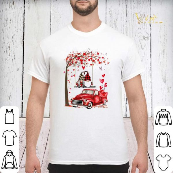 Gnomes red truck Valentine's day autumn leaf.png sweater