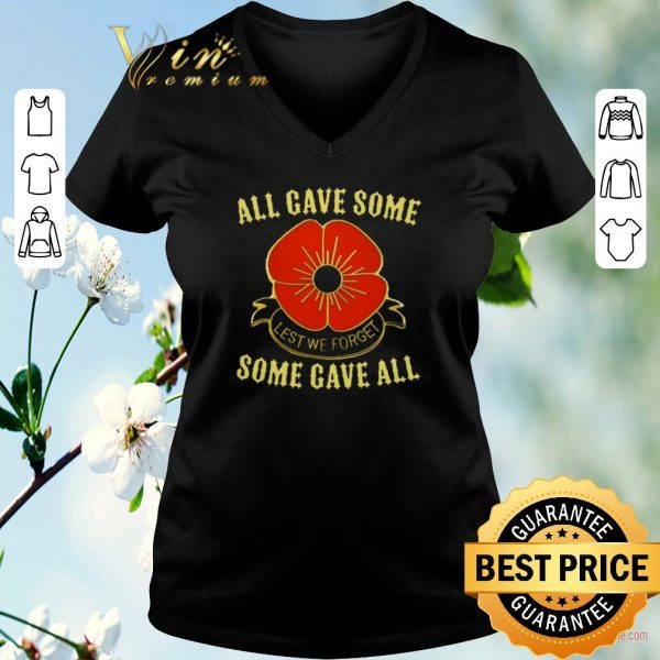 Hot All gave some lest we forget some gave all shirt sweater