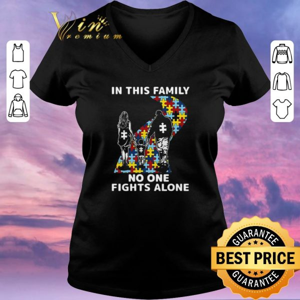 Hot Autism road in this family no one fights alone shirt sweater