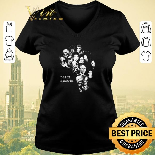 Hot Black History Month Famous Characters shirt sweater