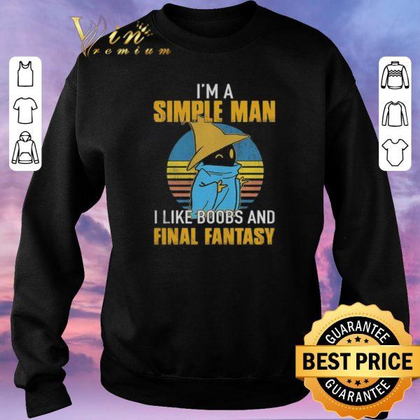 Hot Black Mage I'm a simple man i like boobs and Final Fantasy shirt sweater