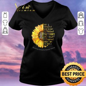 Hot Borderline Personality Disorder Warrior Breast cancer Sunflower shirt sweater 1