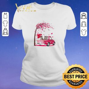 Hot Cats Pink Truck Valentine's Day autumn leaf.png sweater 1