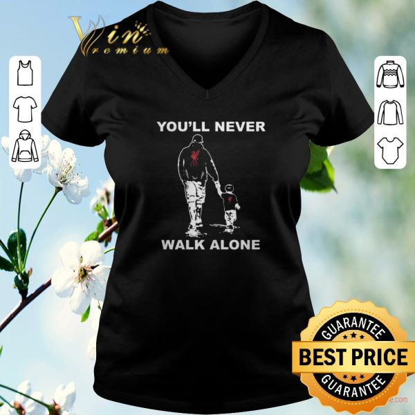Hot Father and son You'll never walk alone Liverpool FC shirt sweater