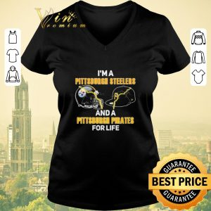 Hot I'm a Pittsburgh Steelers football and a Pittsburgh Pirates shirt sweater 1