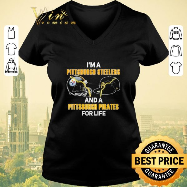 Hot I'm a Pittsburgh Steelers football and a Pittsburgh Pirates shirt sweater