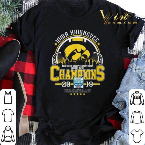 Iowa Hawkeyes San Diego County Credit Union Holiday Bowl Champs shirt sweater