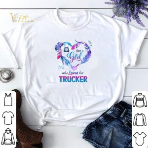 Just a girl who loves her trucker shirt sweater