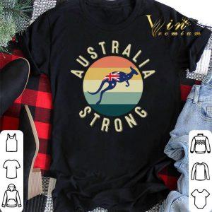 Kangaroo Australia Strong Pray For Australia Vintage shirt sweater