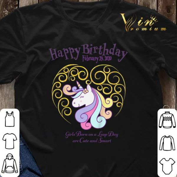 Leap Day Unicorn Girls Born On A Leap Day Are Cute And Smart shirt sweater