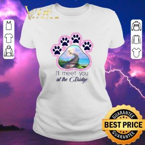 Nice Dog paw i'll meet you at the bridge glitter shirt sweater 1