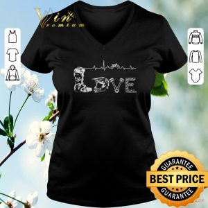 Nice Motocross Love Letters With Heartbeat shirt sweater 1