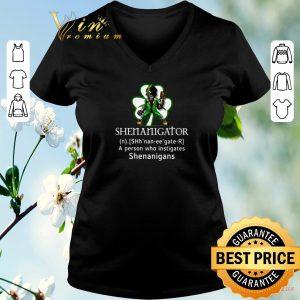 Nice Shenanigator a person who instigates shenanigans St Patricks day shirt sweater 1