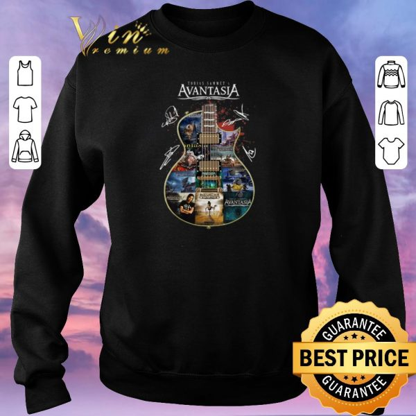 Nice Tobias Sammet Avantasia all signature guitar shirt sweater