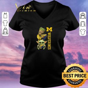 Official Baby Groot And Baby Yoda Hug Michigan Wolverines Star Wars shirt sweater