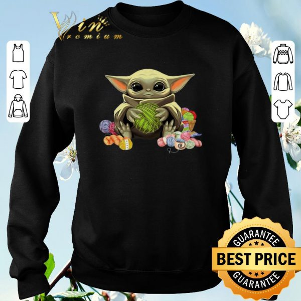 Official Baby Yoda Knitting & Crochet quilting shirt sweater