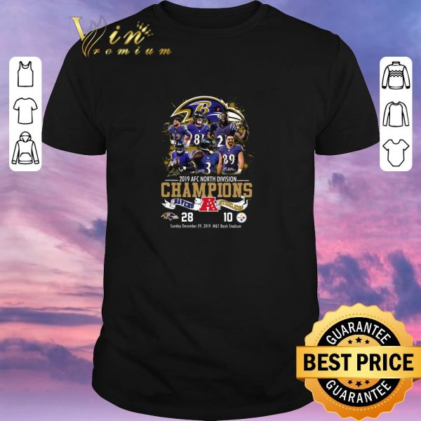 Official Baltimore Ravens 2019 Afc North Division Champions Ravens VS Steelers shirt sweater