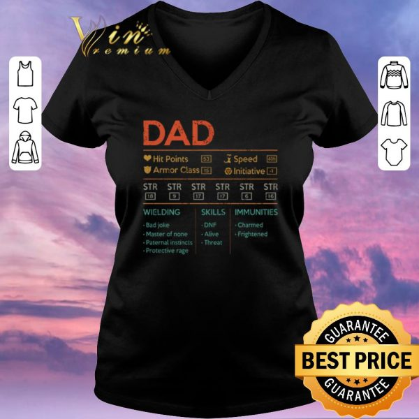 Official Dad hit points speed armor class initiative wielding vintage shirt sweater