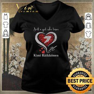 Official Diamond heart just a girl who loves Kimi Raikkonen signature shirt sweater 1