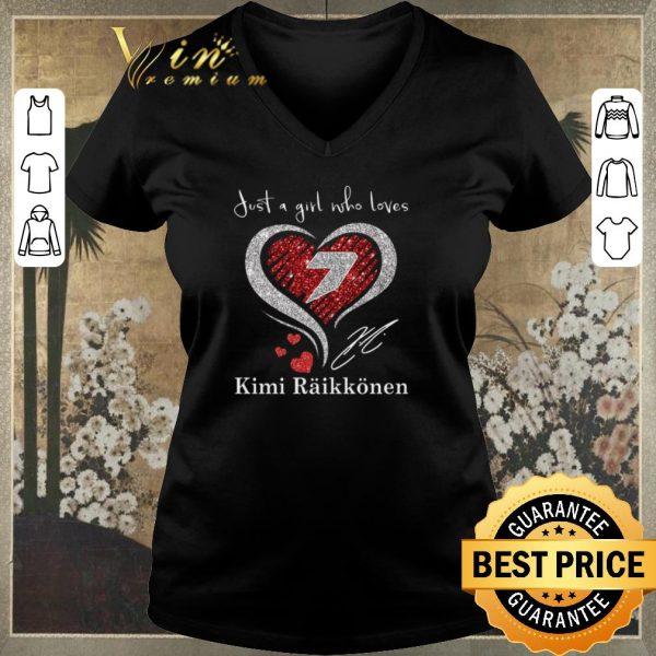 Official Diamond heart just a girl who loves Kimi Raikkonen signature shirt sweater