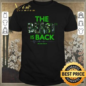 Official Marshawn Lynch The Beast is back welcome home 24 Seahawks shirt sweater