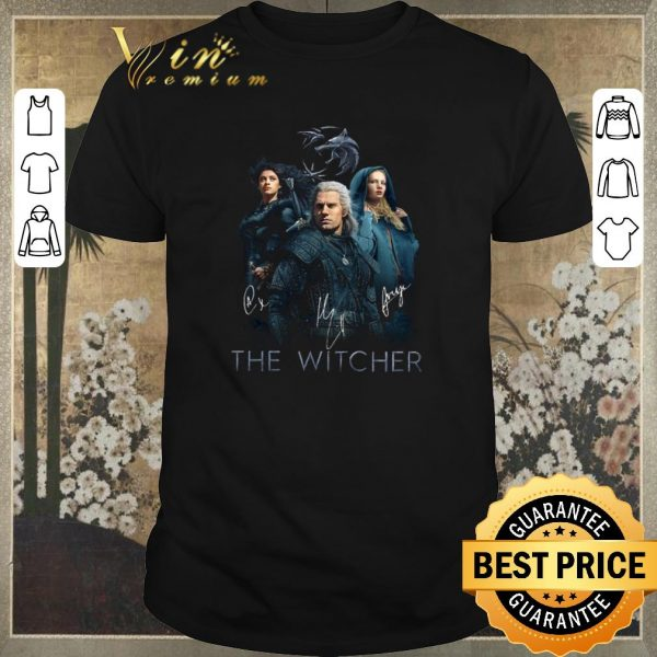 Official The Witcher Logo all signature autographed shirt sweater