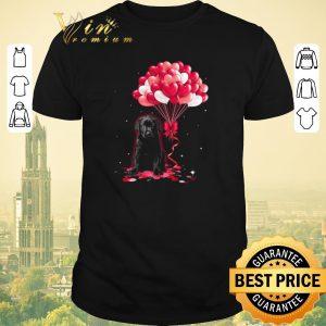 Original Black Labrador dog Love Balloons heart shirt sweater