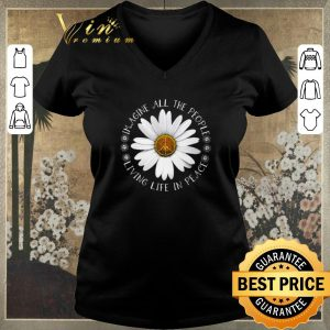 Original Hippie Flower imagine all the people living life in peace shirt sweater 1