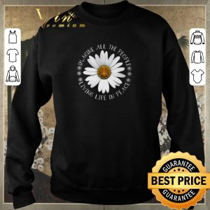 Original Hippie Flower imagine all the people living life in peace shirt sweater 2