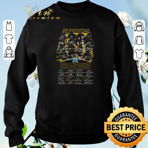 Original Iowa Hawkeyes Holiday Bowl Champions autographs players shirt sweater
