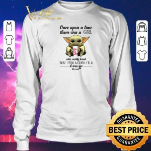 Original Once upon a time there was a girl who Baby Yoda & Chick fil a shirt sweater 2