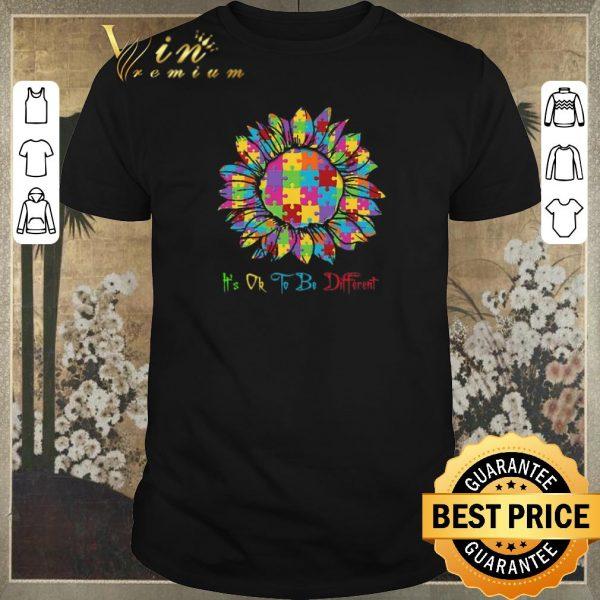 Premium Autism Sunflower Awareness It's Ok To Be Different shirt sweater